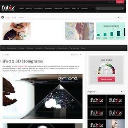 iPad x 3D Holograms