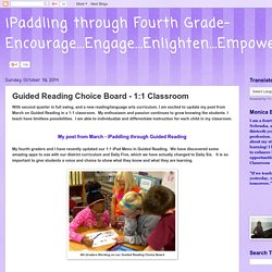Guided Reading Choice Board - 1:1 Classroom