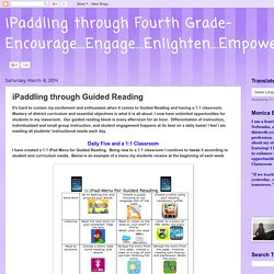 iPaddling through Guided Reading