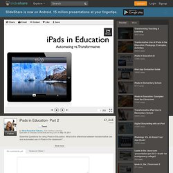 iPads in Education- Part 2