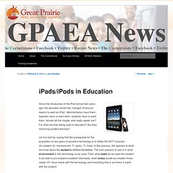 iPads/iPods in Education