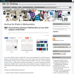 iPads in Mathematics