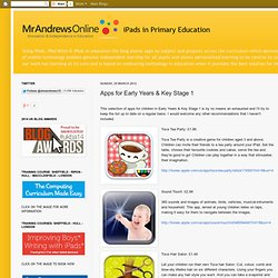 iPads in Primary Education: Apps for Early Years & Key Stage 1