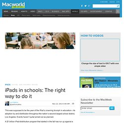 iPads in schools: The right way to do it