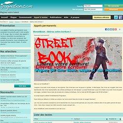 Atelier : StreetBook : libérez votre écriture !