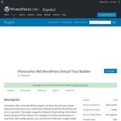 iPanorama 360 WordPress Virtual Tour Builder – Plugin WordPress