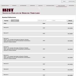 IPDT - Revista del inst. peruano de derechos tributario