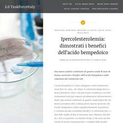 Ipercolesterolemia: dimostrati i benefici dell'acido bempedoico