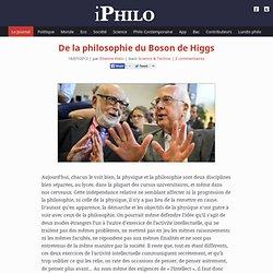 De la philosophie du Boson de Higgs