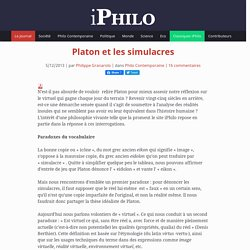 Platon et les simulacres