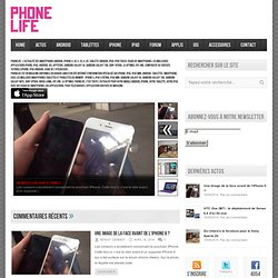 PhoneLife Magazine tout savoir sur iPhone iPad iPod Touch applications itunes et appstore
