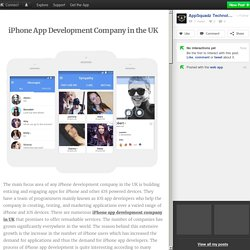 iPhone App Development Company in the UK