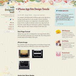 iPhone App Site Design Trends