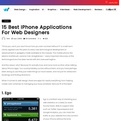 15 Best iPhone Applications for Web Designers