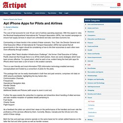 Apt iPhone Apps for Pilots and Airlines