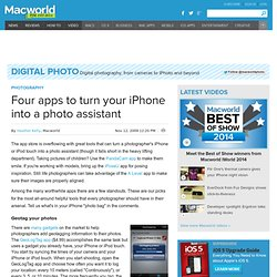 Four apps to turn your iPhone into a photo assistant | Digital P