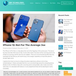 iPhone 12: Not For The Average Joe
