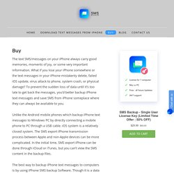 Buy iPhone SMS Backup software