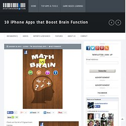 10 iPhone Apps that Boost Brain Function