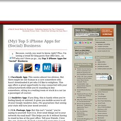 (My) Top 5 iPhone Apps for Social Business