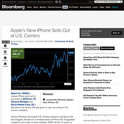 Apple's New IPhone Sells Out at U.S. Carriers