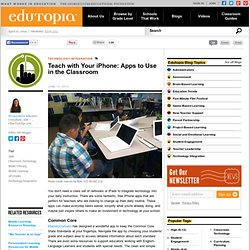Teach with Your iPhone: Apps to Use in the Classroom