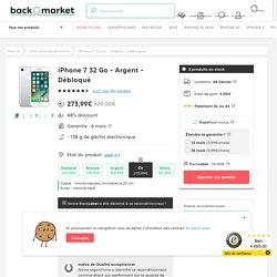 iPhone 7 32 Go - Argent - Débloqué reconditionné
