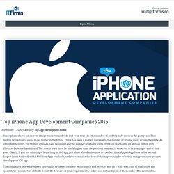 Top iPhone App Development Companies 2016 - IT Firms