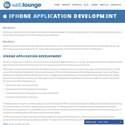 Weblounge - The Fastest Growing iPhone Application Development Company