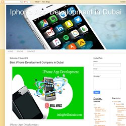 Iphone App Development in Dubai: Best iPhone Development Company in Dubai