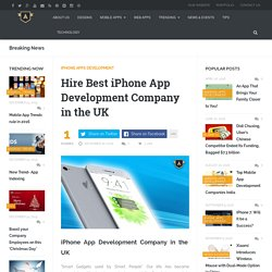 Hire Best iPhone App Development Company in the UK