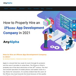 How to Hire an iPhone App Development Company in 2021?