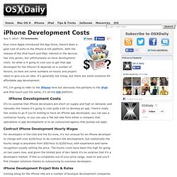 iPhone Development Costs