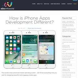 How is iPhone Apps Development Different