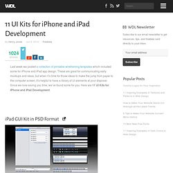 11 UI Kits for iPhone and iPad Development