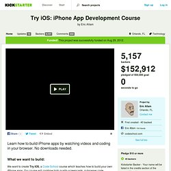 Try iOS: iPhone App Development Course by Eric Allam