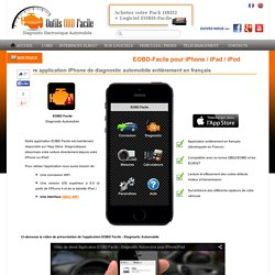 Appli iPhone/iPad de diagnostic auto EOBD Facile