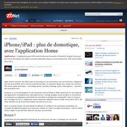 iPhone/iPad : plus de domotique, avec l'application Home