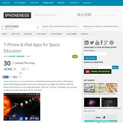 7 iPhone & iPad Apps for Space Education