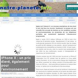 iPhone X : un prix élevé, également pour l'environnement