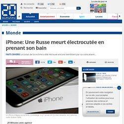 iPhone: Une Russe meurt électrocutée en prenant son bain