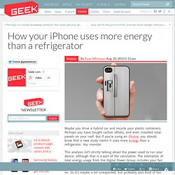 How your iPhone uses more energy than a refrigerator