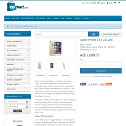 Apple iPhone 6 - 64 GB Gold - Esymart Store - Online Shopping