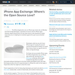 iPhone App Exchange: Where's the Open Source Love?