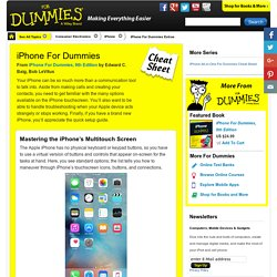 iPhone For Dummies Cheat Sheet