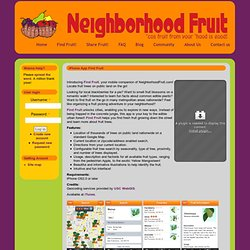 iPhone App Find Free Fruit: NeighborhoodFruit.com