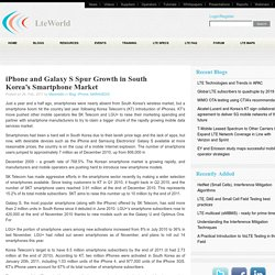 iPhone and Galaxy S Spur Growth in South Korea's Smartphone Market