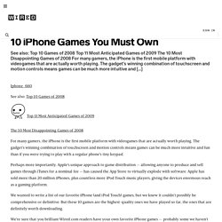 10 iPhone Games You Must Own | Game|Life