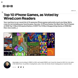 Top 10 iPhone Games, as Voted by Wired.com Readers | Game|Life