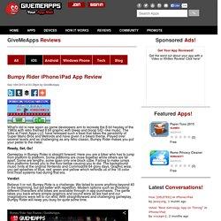 Bumpy Rider iPhone/iPad App Review